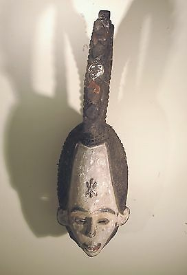 "Unusual Igbo African tribe mask carved wood sculpture statue Africa, HUGE! 26"" H"