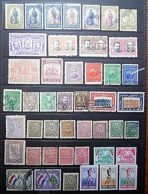 Paraguay Old World Collection Of 45 Good Assorted Stamps