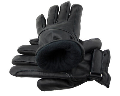 Western Memory Leather Western Biker Riding Gloves Padded Black S - 2XL