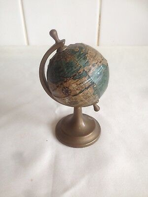 Creative Vintage Antique Rotated World Globe Ornament Home Office Decor Gift