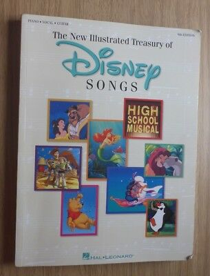 The New Illustrated Treasury of Disney Songs (6th Edition) - Paperback Book