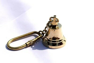 Vintage Marine Nautical Style Bell Key ring Key chain Collectible Royal Item.