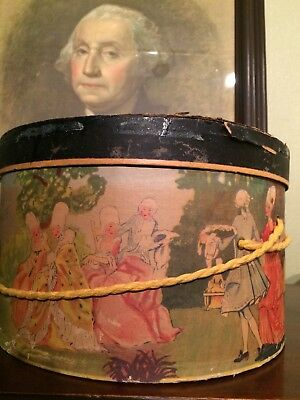 RARE Vintage Womens Hat Box Colonial Party / Victorian Party