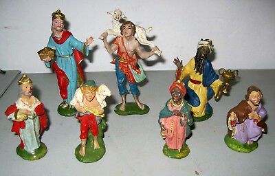 Lot of Vintage Depose Italy and other Nativity figures