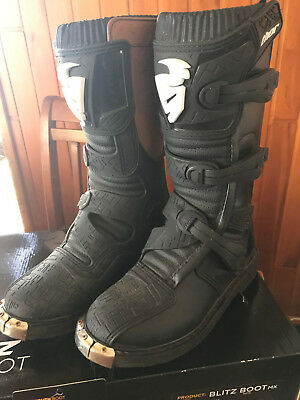 Thor Motorcross Boots - Black Youth Size 5