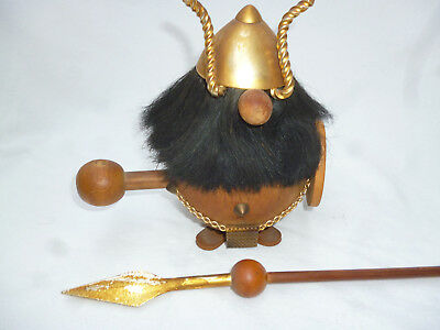 LARGE VINTAGE LARGE VIKING DOLL very well detailed & good con - DIM Brand 1960s