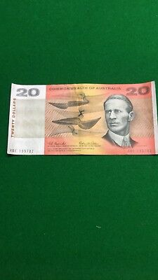 1966 $20 Commonwealth of Australia note Coombs & Wilson XBE