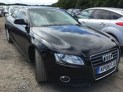 08 Audi A5 1.8 T-Fsi Coupe **black, Leather, Alloys, Air Con, 2 F/rec Owners!**