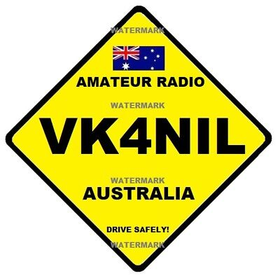 Amateur Radio Call Signs - Personalised - Supply Call Sign - Amateur -  Freepost