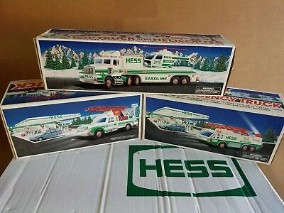 Lot Of 3 trucks. HESS 1994,1995 & 1996 New in box ADULT OWNED
