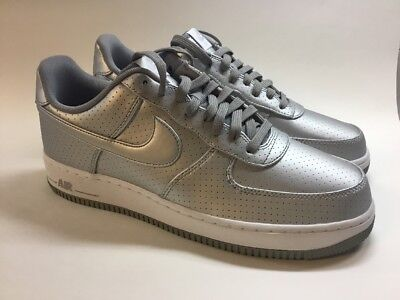 Details about Nike Air Force 1 07 LV8 Low Men's Size 10.5 Metallic Silver White 718152 013