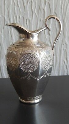 SOLID SILVER PERSIAN ISFAHAN JUG    4.1/4 inches hign (11cm)