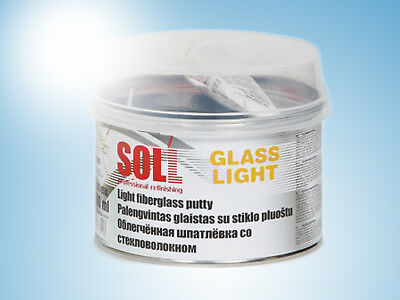 SOLL GLASS Light weight fiberglass easy to sand putty color green 0.5kg/17.63oz