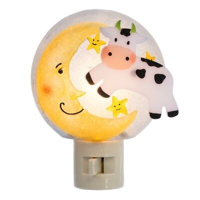 Midwest-CBK Lights In The Night COW JUMPING OVER THE MOON Nightlight ~NEW~