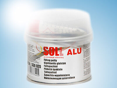 SOLL ALU highly strong putty with aluminum dust easy to apply 0.2kg/7.05oz