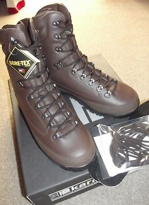 British Army Karrimor Sf Cold Wet Weather Combat Boots, Gortex, Size 6 W,
