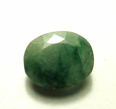 6.00 1Piece Natural Loose Gemstone 13X11mm Oval Emerald Faceted Cut S358