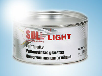 SOLL LIGHT putty perfect for large areas easy to apply and sand 1kg/35.27oz