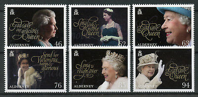 Alderney 2018 MNH Queen Elizabeth II Coronation 65th Anniv 6v Set Royalty Stamps