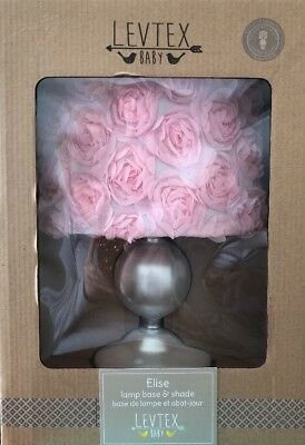 """So Sweet!! Levtex Baby """"Elise"""" Lamp Base And Shade Free Shipping"""