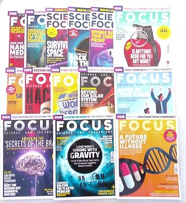 Lot of 14 BBC Focus Magazines- 1 x 2016 and 13 x 2017 - Science and Technology