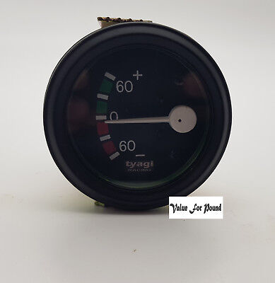 60-0-60 Bar Ammeter Amp Meter Vintage Clock 52Mm Dia Black Dial Car Boat M614-D
