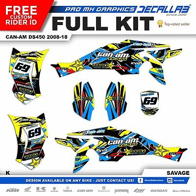 CAN AM DS 450 QUAD SUPER DURABLE Stickers Graphics Decals Decallab