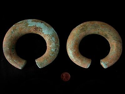 Whole Sale Pair of Ancient Solid Bronze Bangle Beautiful Rare Cheap Don't Miss*