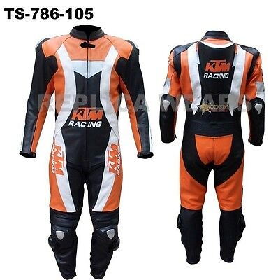 New Men Biker Motorcycle Leather Racing Suit TS-786-105- (USA 38,40,42,44,46,48)