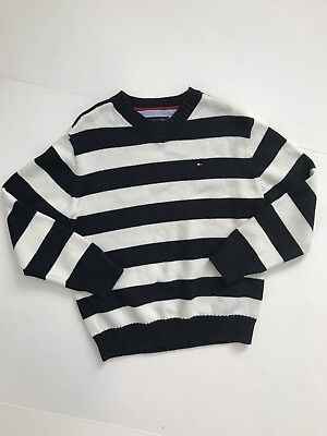 Tommy Hilfiger V Neck Sweater Pullover Boys Kids Size 6 Preowned