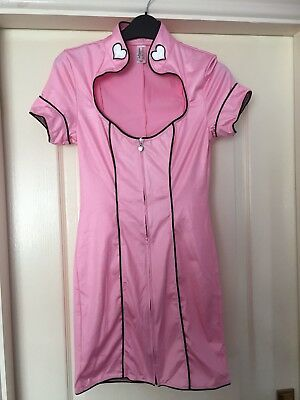 Ann Summers Fancy Dress Madame Massage Hen Night outfit Costume Pink size 8