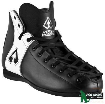 Antik MG 2 Black White Real Leather Derby Skate boot Size UK 7