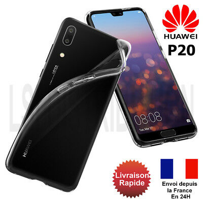 Coque Etui Huawei P20 Gel Silicone Transparente House Protection P20