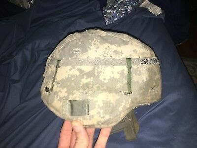Military Issue ACH Large Lightweight Ballistic helmet with straps & all 3/4pads