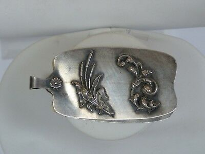 Antique Late 1800's Early 1900's Sterling Silver Notebook