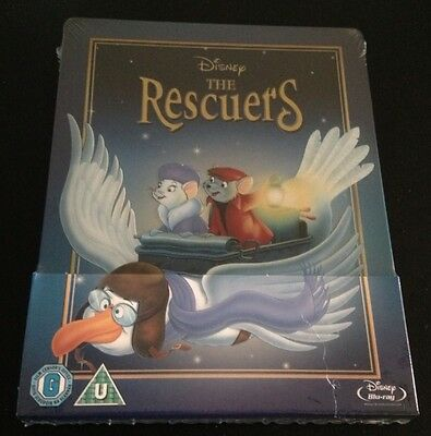 Disney THE RESCUERS Blu-Ray SteelBook Zavvi UK Exclusive. Region Free. OOP Rare!