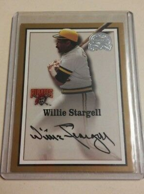 2000 Fleer Great Of The Game Authentic Auto Willie Stargell Signed Auto