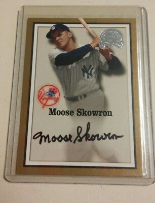 2000 Fleer Great Of The Game Authentic Auto Moose Skowron Signed Auto