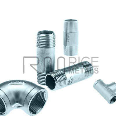 """STAINLESS STEEL 316 PIPE FITTINGS BSP 3/4"""" & 1"""" Options - RATED 150lb"""