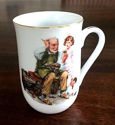 Set of Four Norman Rockwell Museum Collection Cups/Mugs Vintage 1986
