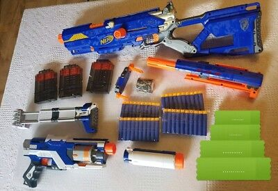 NERF Long Strike & Spectre With Accessories + 40 New Darts