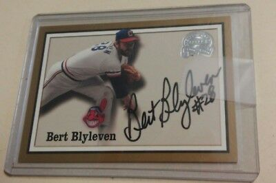 2000 Fleer Great Of The Game Authentic Auto Bert Blyleven Signed Auto