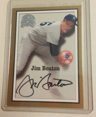 2000 Fleer Great Of The Game Authentic Auto Jim Bouton Signed Auto
