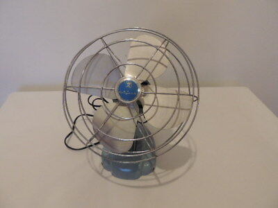 vintage wizard fan turquoise table top Western Auto Supply Co.1950's
