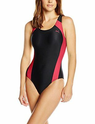 PUMA Damen Badeanzug Active Cat Logo Swim Suit W, Rose Red, L, 512399 24