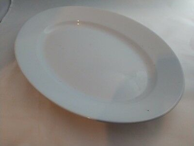 """Turkey Platter H. Alcock Imperial Ironstone White Large 17"""" x 12"""""""