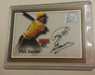 2000 Fleer Great Of The Game Authentic Auto Phil Garner Signed Auto