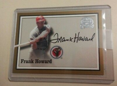 2000 Fleer Great Of The Game Authentic Auto Frank Howard Signed Auto