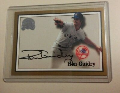 2000 Fleer Great Of The Game Authentic Auto Ron Guidry Signed Auto