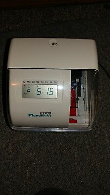 Acroprint Es700 Time & Date Employee Recorder Clock
